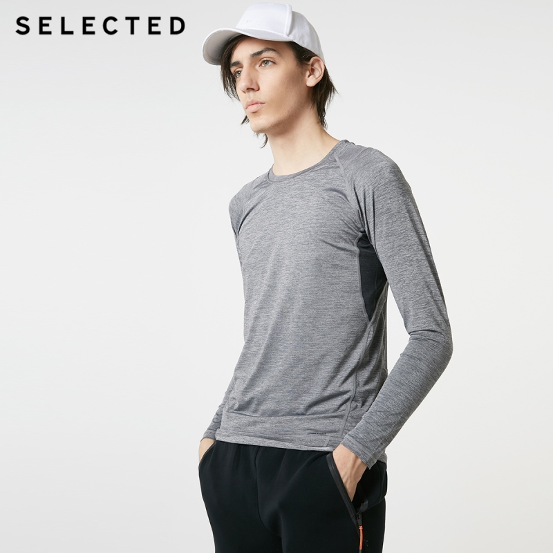 SELECTED Stretch Quick-dry Long-sleeved Round Neckline T-shirt SP|419102503