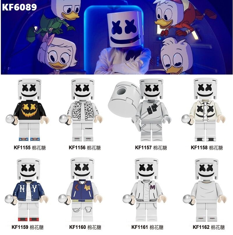 Single Sale Building Blocks Bricks Famous Character DJ AIM Agent Action Figures Toys Collection For Children Model <font><b>KF6089</b></font> image