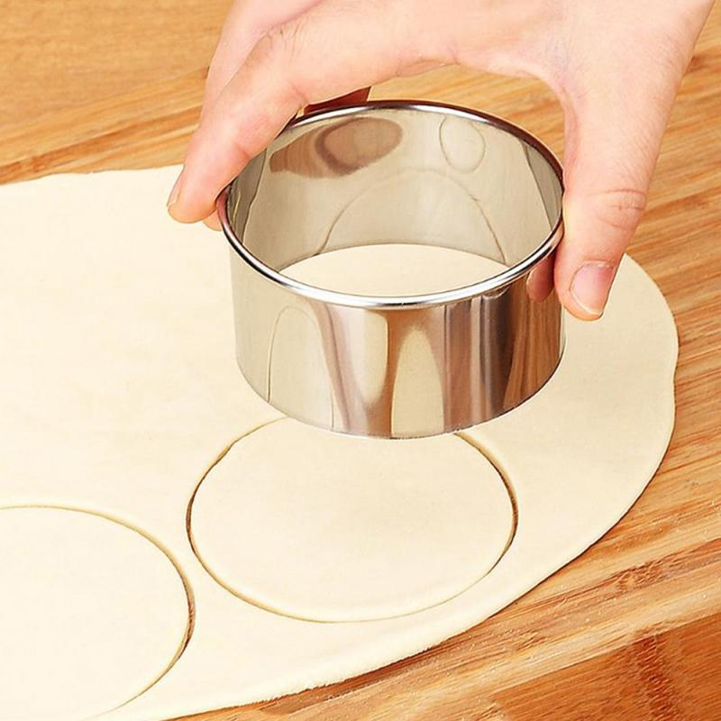 3pcs/set Stainless Steel Round Dumplings Wrappers Molds Set Cutter Dough Cutting Tool