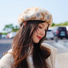 Зимний шерстяной берет, шапка, Зимний берет харии для девочек 90 s, британский стиль, клетчатые шапки газетчика, Женская восьмиугольная шапка, шапки художника