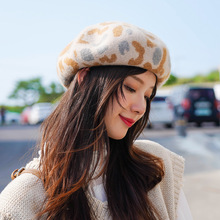 Winter Wool Beret Hat Hariy For 90 s Girls British Style Plaid Newsboy Hats Female Octagonal Cap Painter