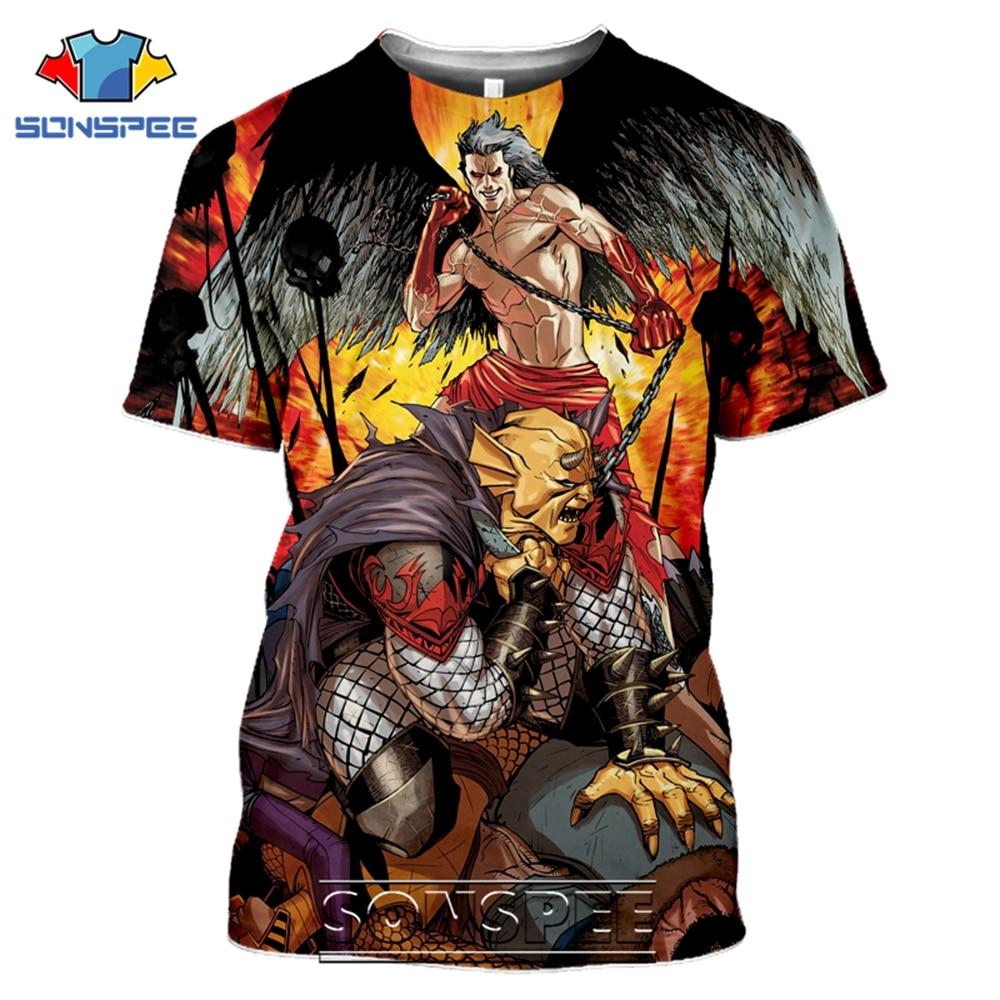 SONSPEE T-shirts Lucifer Morningstar 3D Print Men Women Casual Fashion Hip Hop Short Sleeve Streetwear Devil Tees Tops Shirt (11)