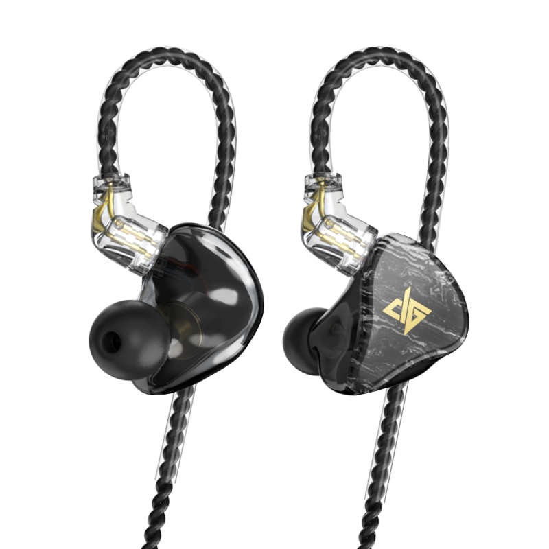 2019 AUGLAMOUR T100 Graphene Coaxial Double Moving Coil In Ear Monitor Earphone HIFI Bass Headset With Detachable Cable PK F300