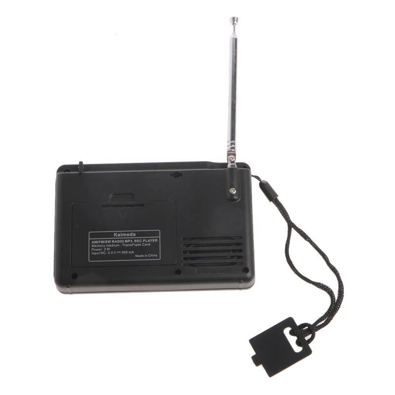 Rec-Player Receiver Radio Portable Digital Full-Band Tuning Am Fm SW MP3 TF LCD Drop