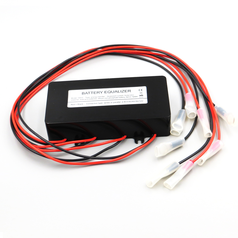 Égaliseurs de batterie HA02 HA01 équilibreur de batteries 3.2 3.7 6 12 V batterie connectée en série pour système de batterie 48V système solaire