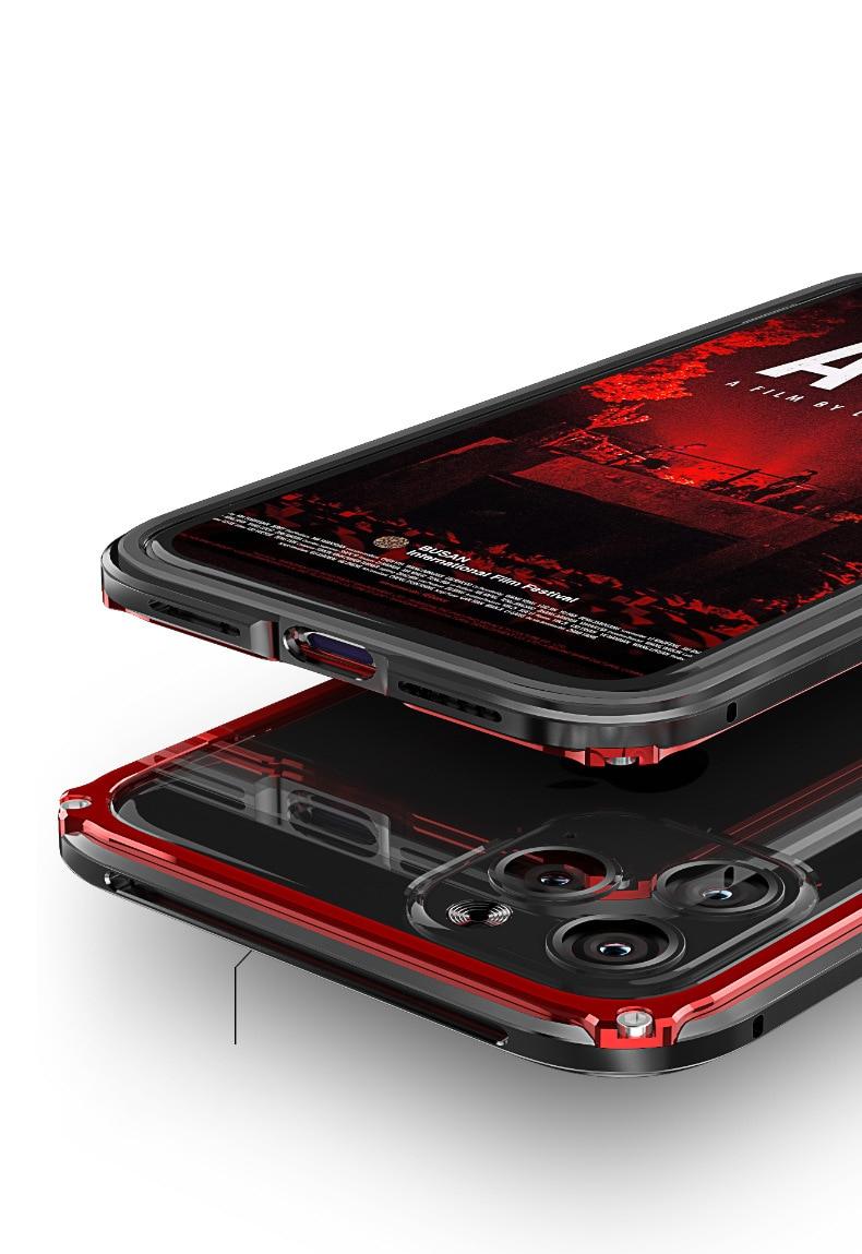 iphone11 Pro Max アルミバンパー 背面強化ガラス