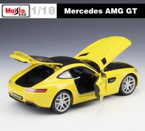 Image 4 - Maisto ダイキャスト 1:18 メルセデスベンツ AMG GT/SLS/500 18K スポーツ車の金属モデル車スーパーカー合金のおもちゃ子供のためのギフトコレクション