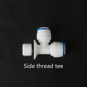 cnbtr black low pressure switch reverse osmosis tank 1 4 bsp inner thread RO Water Quick Fitting Tee 1/4 3/8 OD Hose Connection 3/8 BSP Male Thread Plastic Pipe Coupling Reverse Osmosis System