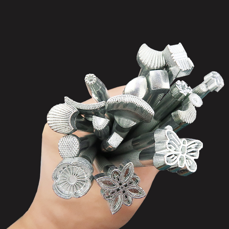 MIUSIE 1Pcs Leather Printing Tool Alloy Carving Making Craft Punch Stamps Sculpture Printed DIY Metal Leather Working Saddle