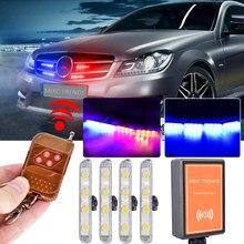4X4 светодиодный стробоскоп предупреждающий полицейский свет беспроводной пульт дистанционного управления для автомобиля грузовика мотоц...