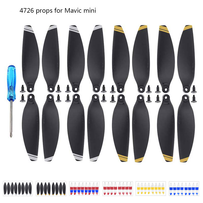 16PCS Replacement Propeller for DJI Mavic Mini Drone 4726 Light Weight Props Blade Wing Fans Accessory Spare Parts Screw Kits