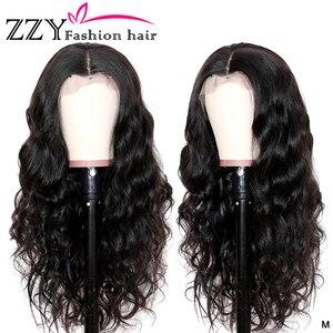 ZZY Модные бразильские волнистые волосы Синтетические волосы на кружеве человеческих волос парики 150% Плотность 13x4 Синтетические волосы на к...
