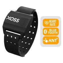 XOSS-Sensor de ritmo cardíaco para brazo, brazalete con correa de mano, Bluetooth, ANT +, inalámbrico, Sensor de Bicicleta inteligente de salud para GARMIN