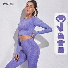 2 peice mulheres treino conjunto de roupas de ginástica sutiã esportivo verão calças yoga conjunto sem costura leggings de fitness terno outfits