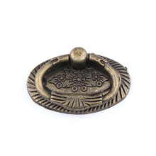 1pc Antique Single hole Drawer Dresser Handle Cupboard Knob Pull Ring Handle Furniture Handle 860 128mm hole to hole length zinc alloy golden flower pull handle marble furniture knob