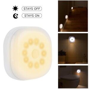Image 1 - 10 led PIR 모션 센서 침실 부엌에 대 한 밤 빛 램프 자기 옷장 캐비닛 빛 무선 복도 계단 빛