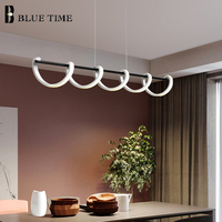 Home Modern Led Pendant Lights For Kitchen Dining room Living room Lamp Aluminum Simple led Pedant Lamp Black&White Hanging Lamp