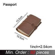 50 części/partia paszport 135x105mm prawdziwej skórzany notes Handmade klasyczna skóra bydlęca notes Sketchbook Planner