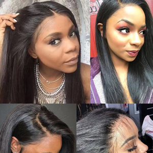 Image 5 - Straight Natural Wig Pre Plucked 13x6 Lace Front Human Hair wigs For Black Women Remy 360 Lace Frontal Wig Brazilian Hair Wigs