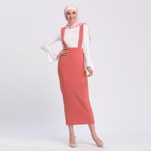 Islamic Clothing Skirt Bottom Long Fashion Pencil Strap Maxi Middle-East-Wear Dubai-Arab