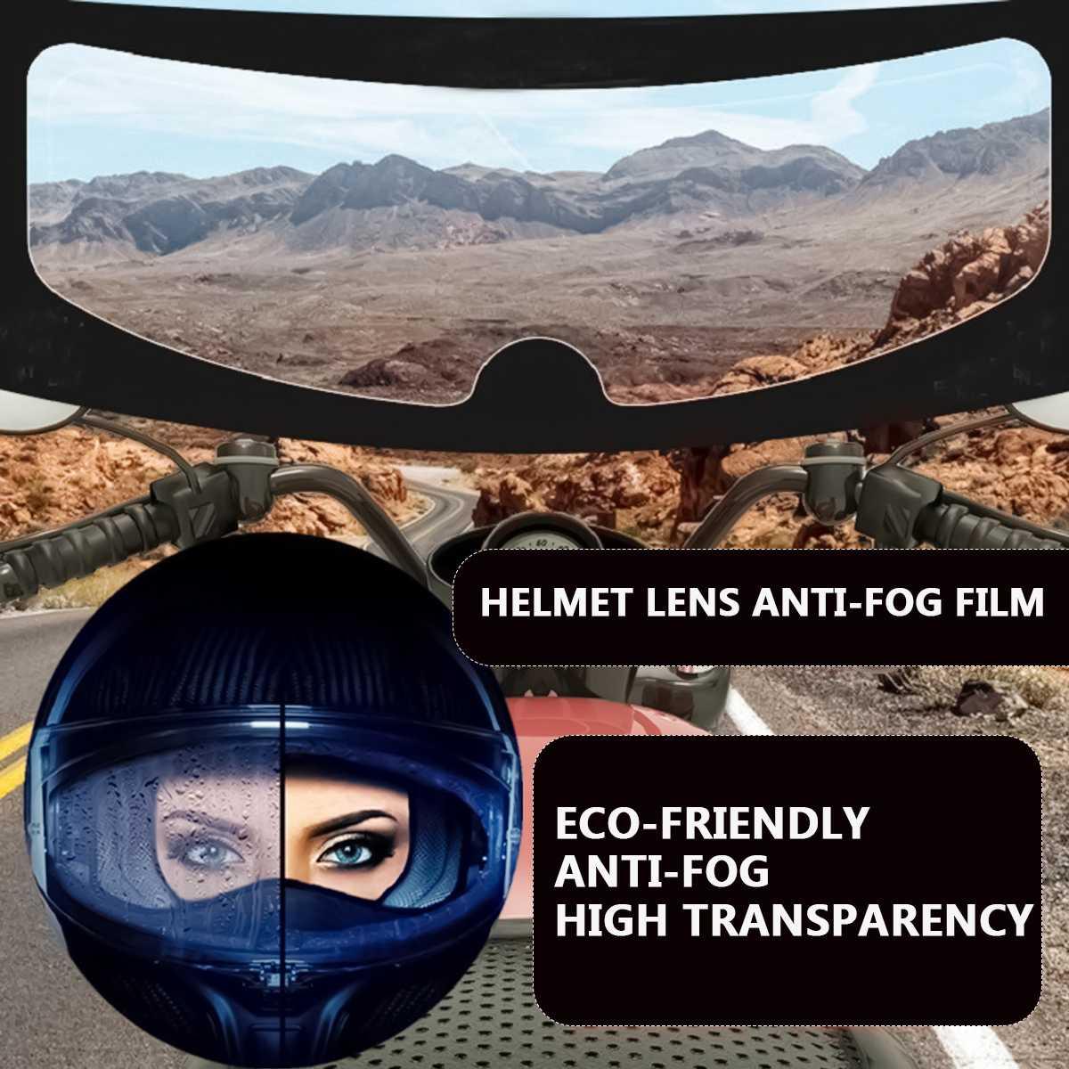 Casco de la motocicleta claro Pin Lock Anti-niebla parche película casco lente Visor película resistente a la niebla para K3 K4 AX8 LS2 HJC