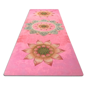 1830 610 1mm yoga mat fitness rubber pad foldable ultra thin non slip portable yoga blankets suede mat towel Pink printing yoga fitness mat suede rubber non-slip health yoga flower mat factory outlet practice mat with ncie design