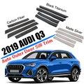Accessoires de voiture en acier inoxydable | Pour 2019  Audi Q3 berline externe seuil de Protection  moulage de Protection  accessoires de voiture