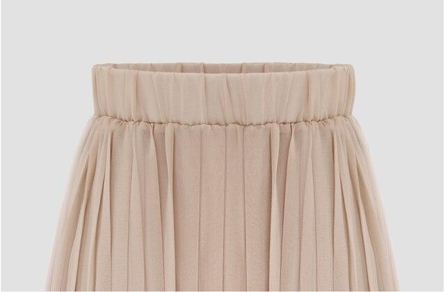 Lato 2019 nowości Euro styl Midi plisowana spódnica dla