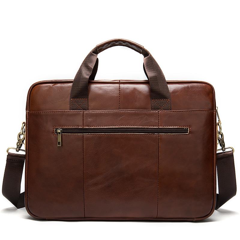 WESTAL hommes porte-documents sac hommes en cuir véritable pochette d'ordinateur fourre-tout d'affaires pour document bureau ordinateur portable sac à bandoulière 8523 - 6