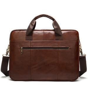 Image 5 - WESTAL mens briefcase bag mens genuine leather laptop bag business tote for document office portable laptop shoulder bag  8523