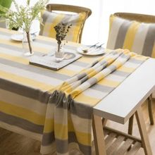 American tablecloth waterproof fabric rectangular stripe small fresh coffee table round square cloth towel