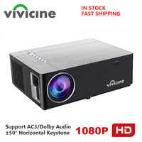 Vivicine 2020 M20 Newest 1080p Home Theater Projector,Option Android 9.0 1920x1080 Full HD LED Multimedia Video Projector Beamer