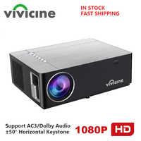 Vivicine 2020 M20 plus récent 1080p projecteur de cinéma maison, Option Android 9.0 1920x1080 LED Full HD projecteur vidéo multimédia