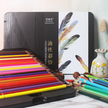 NYONI 48/72/100 Colors Professional Water-soluble colored pencils Set Oil Colored Pencils Painting Colour Colours Drawing Pencil
