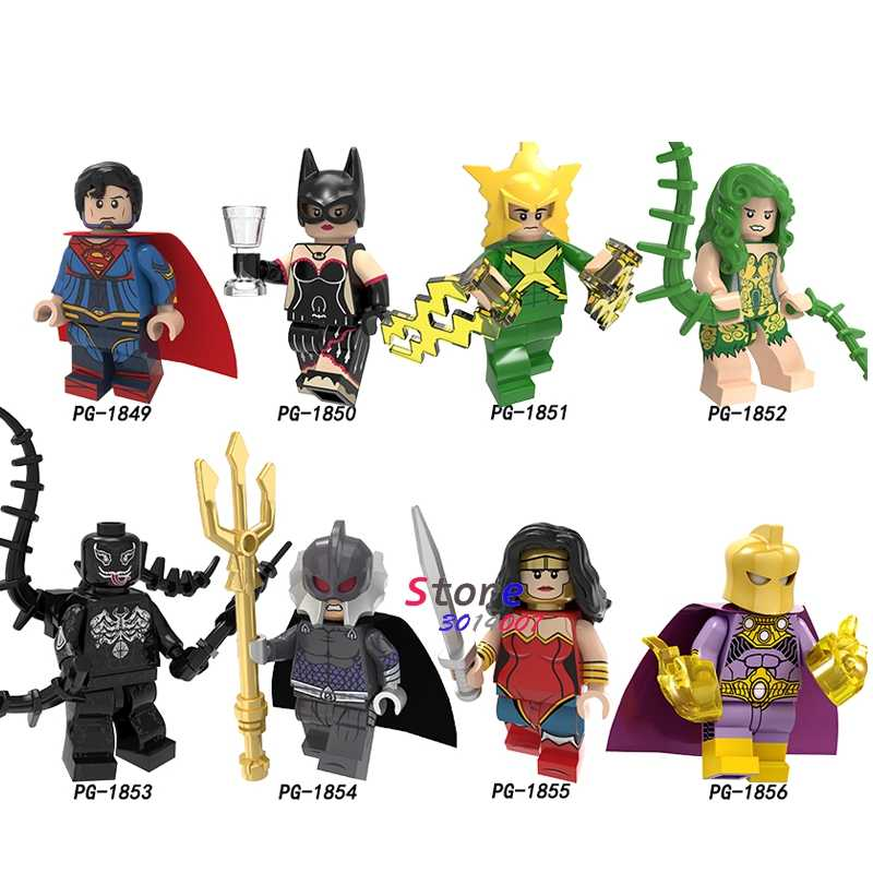 SINGLE Super Heroes Superman Electro Poison Ivy VENOM Ocean Doctor Fate Wonder Woman โคมไฟ Arrow Building Blocks เด็กของเล่น