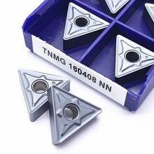 Tnmg160408 nn lt10 carboneto de inserção torno ferramenta cnc torneamento externo tnmg 160408nn para aço cnc ferramenta de corte torneamento inserção