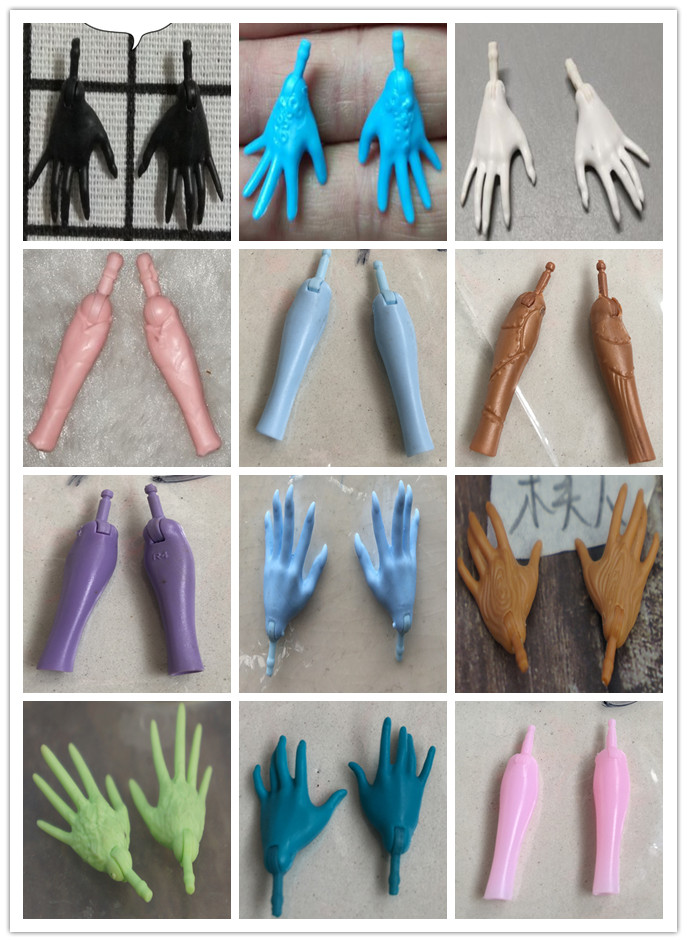 Original Replacement Doll Hands Black White Blue Fish Lady Monstering High Doll Toy Parts Kids Playing House DIY Toy Accessories