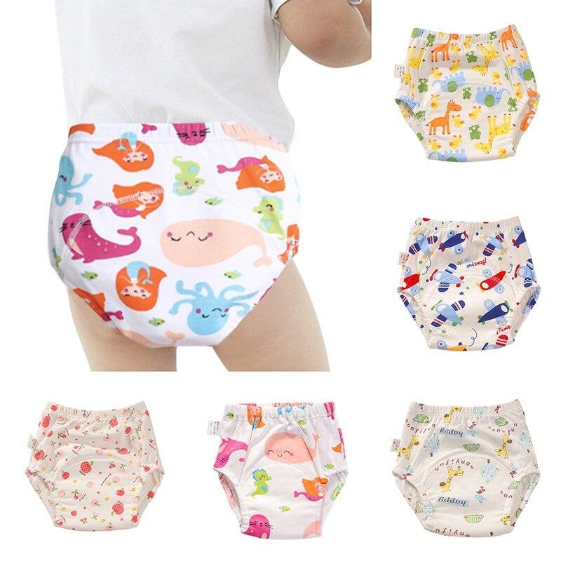 Детские моющиеся подгузники, водонепроницаемые тканевые подгузники, хлопковые многоразовые подгузники, Детские тренировочные трусики, де...