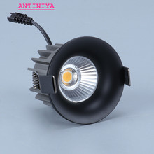 Dimmable recesse עגול LED Downlights COB תקרת מנורת ספוט אורות 7W 9W 12W LED אור led פנל אור מקורה תאורה