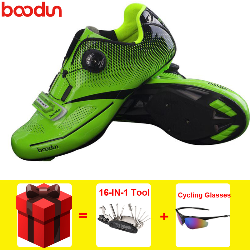 BOODUN Road Cycling Shoes men 16 IN 1 Tool sapatilha ciclismo Ultralight Self Locking Pro Men Triathlon men racing bike shoes|Cycling Shoes| |  - title=