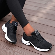 Fashion Lace Up Women Running Shoes Lightweight Sneakers Breathable Outdoor