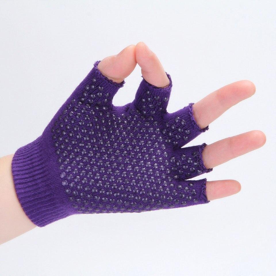 Купить с кэшбэком Yoga Sports Gloves for Women Men Gym Fitness Non Slip Training Workout Bodybuilding Half Finger Hand Protector Sports Hand Guard