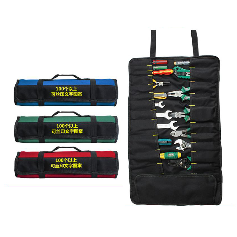 Multifunction Oxford Cloth Folding Wrench Bag Roll Storage Pocket Tools Pouch Organizer Holder Portable Case