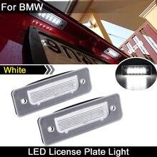 Para bmw 3-series e30 5-series e12 e28 6-series e24 7-series e23 e26 m1 z1 roadster branco conduziu a luz da placa do número de licença