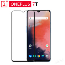 Original Oneplus 7T 3D Tempered Glass Screen Protector Full Cover Perfect Fit Curved Edge Super Hard 9H Oleophobic Coating