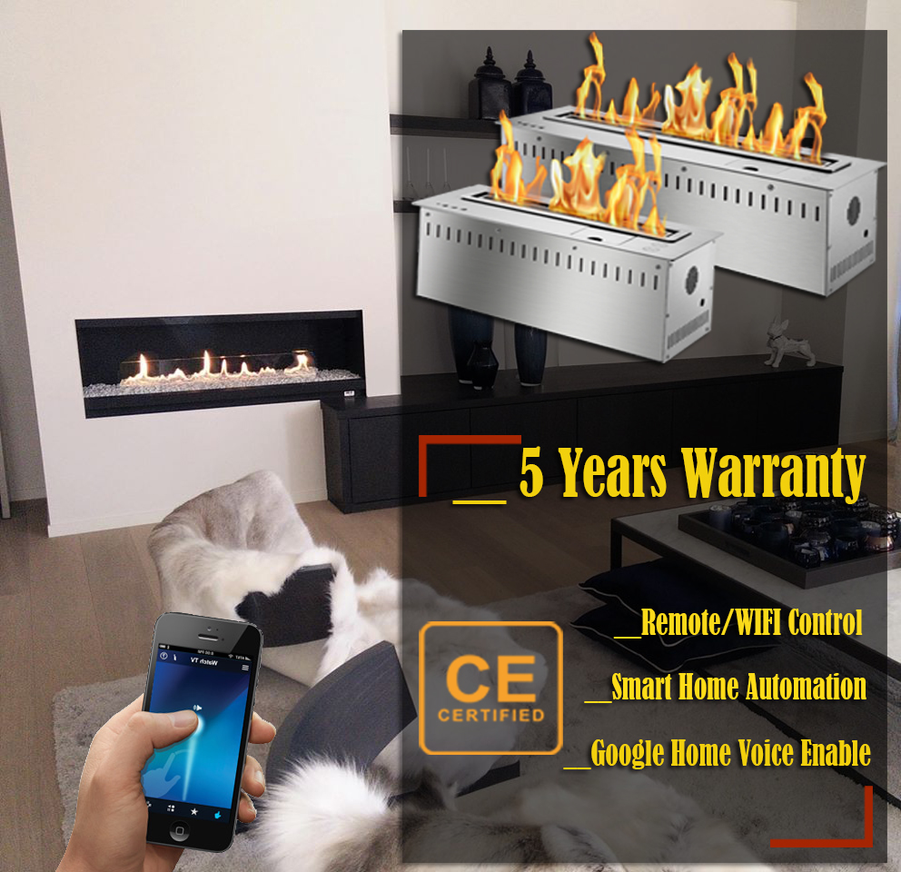 On Sale 48 Inch Indoor Use Bio Ethanol Inset Remote Fireplace