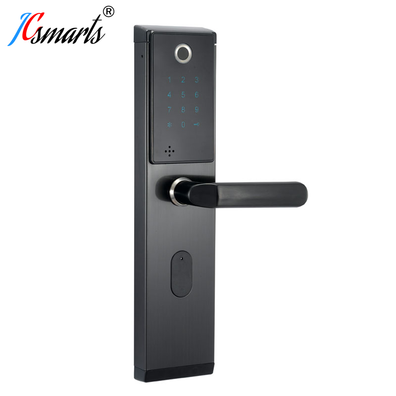 JCF3320 serrure d'empreinte digitale de porte intelligente, serrure sans clé de maison de sécurité, serrure de carte de RFID de mot de passe pour des appartements
