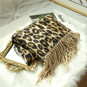Image 4 - Design winter thick scarf for women blanket tassel lady shawls and wrap animal leopard print cashmere scarves pashmina foulard