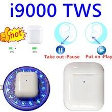 I9000 TWS 1:1 Реплика air 2 Smart Сенсор Беспроводной наушники 8D супер бас Bluetooth 5,0 наушники pk w1 h1 чип i90 i100 i1000 TWS