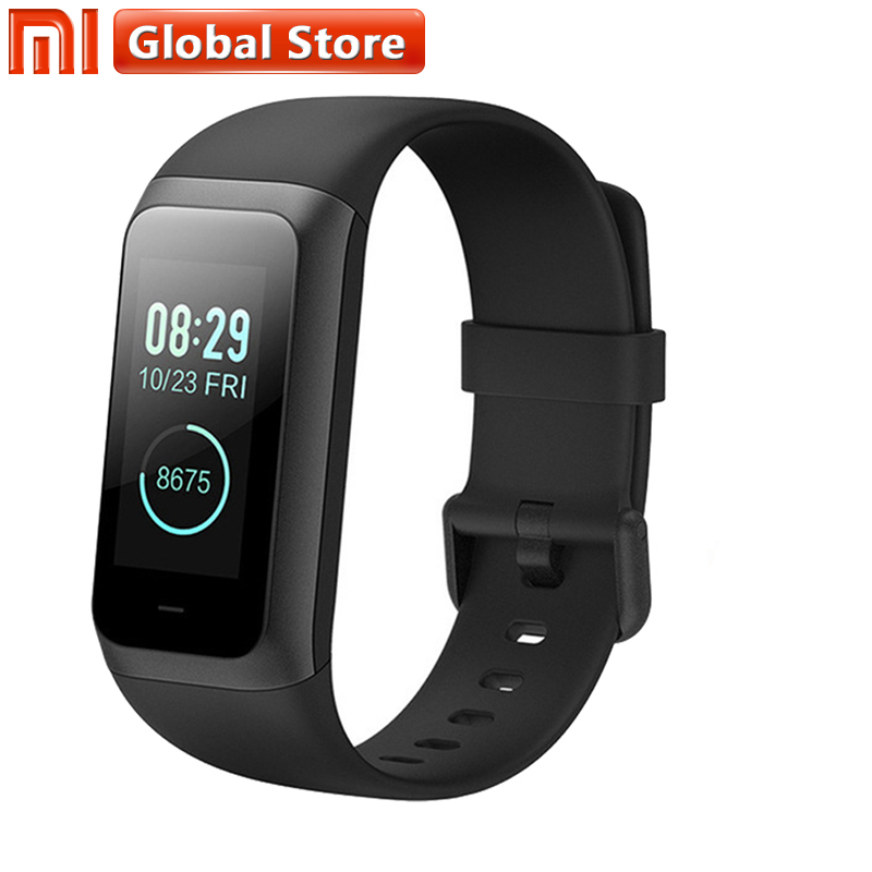 NEW Original <font><b>Huami</b></font> <font><b>Amazfit</b></font> <font><b>Band</b></font> <font><b>Cor</b></font> <font><b>2</b></font> Smart Bracelet 5ATM Waterproof <font><b>2</b></font>.5D Color IPS 316L Stainless Steel Frame For Android IOS image